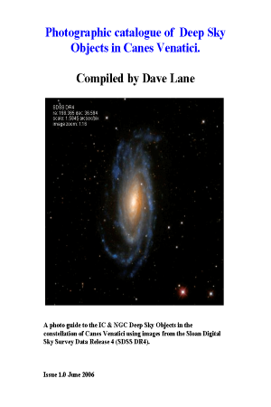 Photographic catalogue of Deep Sky Objects in Canes Venatici